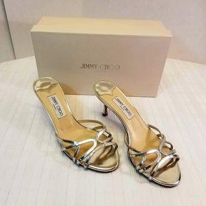 JIMMY CHOO Ivana Gel Sandals Silver 8 US (38.5 EU)